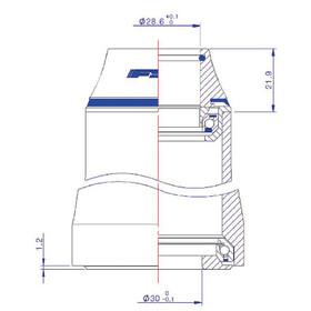 Cube FSA Orbit Z-t - Jeu de direction - ZS49/28.6 I IS52/30 & IS52/40 noir